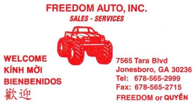 Business Card_Freedom Auto