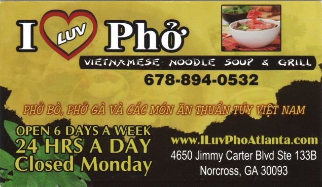 Business Card_I Love Pho