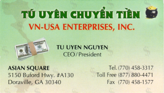 Business Card_Tu Uyen